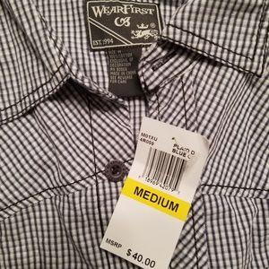 Wear First Shirts - Men's Wear First Button Down Sz M NWT